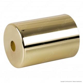 FAI Bicchiere Portalampada Cilindrico in Metallo per Lampadine E27 Colore Ottone - mod. 0146/OT