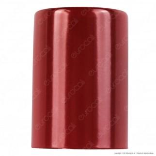 FAI Bicchiere Portalampada Cilindrico in Metallo per Lampadine E27 Colore Rosso - mod. 0146/RS