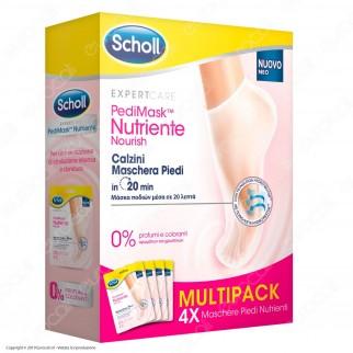 Scholl Pedimask Maschera Piedi Nutriente con 0% Profumi e Coloranti - 4 Paia di Calzini Idratanti