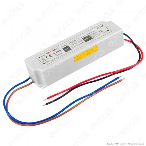 V-Tac VT-21030 Alimentatore 30W Impermeabile IP67 a 1 Uscita con Cavi a Saldare - SKU 3271