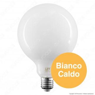 Life Lampadina LED E27 16W Globo G125 Milky Filamento - mod. 39.920387CM / 39.920387NM / 39.920387FM