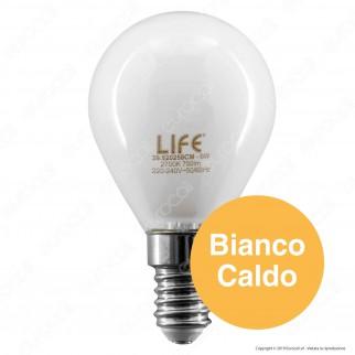 Life Lampadina LED E14 6W MiniGlobo P45 White Filamento - mod. 39.920258CM / 39.920258NM