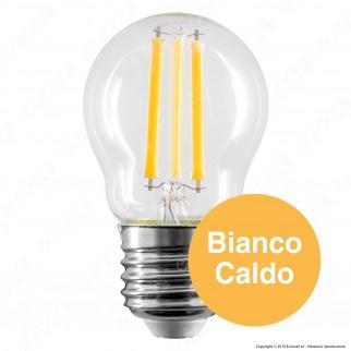 Bot Lighting Shot Lampadina LED E27 6W MiniGlobo P45 Filamento - mod. WLD3106X2