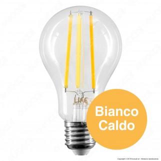 Life Lampadina LED E27 12W Bulb A70 Filamento - mod. 39.920357C1 / mod. 39.920357N