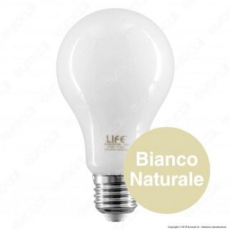 Life Lampadina LED E27 12W Bulb A70 Milky Filamento - mod. 39.920357CM / 39.920357NM
