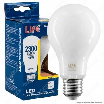 Life Lampadina LED E27 16W Bulb A70 Milky Filamento - mod. 39.920358CM / 39.920358NM