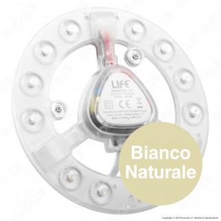Life Modulo LED Circolina con Magnete Ø141mm 12W per Plafoniere - mod. 39.942412C / 39.942412N