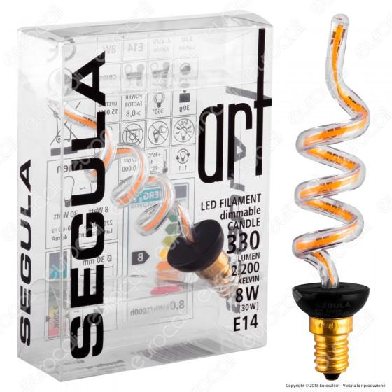 Segula Art Line Lampadina E14 Filamento LED Modellato 8W Forma Candela Dimmerabile mod. 50139