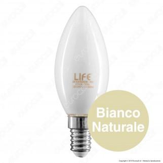 Life Lampadina LED E14 6W Candela Milky Filamento - mod. 39.920023CM / 39.920023NM