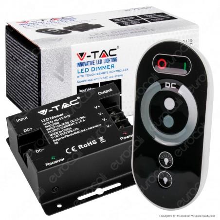 V-Tac VT-5115 Controller Dimmer per Strisce LED con Telecomando 3x 6A - SKU 2590