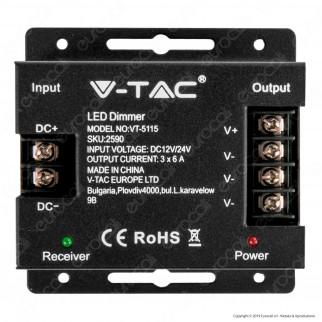V-Tac VT-5115 Controller Dimmer per Strisce LED con Telecomando 3x A - SKU 2590