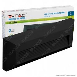 V-Tac VT-1162 Faretto Segnapasso LED Superficiale Rettangolare 3W per Esterno Nero - SKU 1329 / 1328