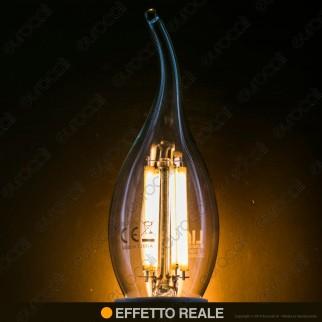 Life Lampadina LED E14 6W Candela Fiamma Filamento - mod. 39.920123C1 / 39.920123N
