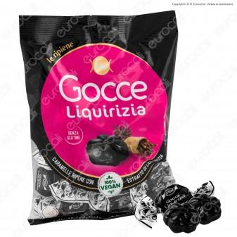Caramelle Dure Gocce con Ripieno alla Liquirizia Senza Glutine 100% Vegane - Busta 200g