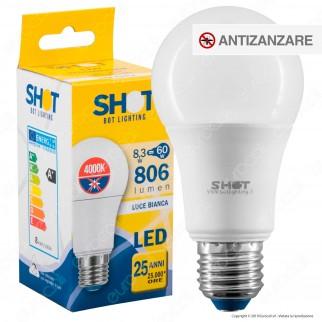 Bot Lighting Shot Lampadina LED E27 8,3W Bulb A60 Anti Insetti - mod. ELD1008X3AM