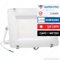 V-Tac PRO VT-206 Faro LED SMD 200W High Lumens Ultrasottile Chip Samsung da Esterno Colore Bianco - SKU 787 / 788