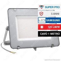V-Tac PRO VT-206 Faro LED SMD 200W High Lumens Ultrasottile Chip Samsung da Esterno Colore Grigio - SKU 789 / 790
