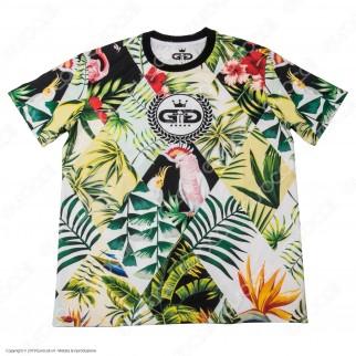 Grace Galss T-Shirt Manica Corta in Tessuto Traspirante - Fantasia Tropical