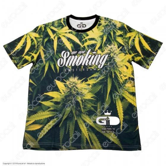 Grace Galss T-Shirt Manica Corta in Tessuto Traspirante - Fantasia Leaf