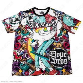 Grace Galss T-Shirt Manica Corta in Tessuto Traspirante - Fantasia Dope Bros Amsterdam