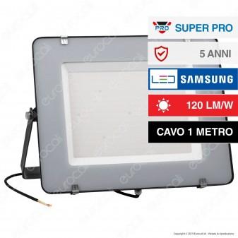 V-Tac PRO VT-306 Faro LED SMD 300W High Lumens Ultrasottile Chip Samsung da Esterno Colore Nero - SKU 791 / 792