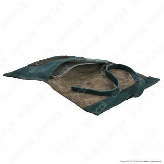 Il Morello Large Portatabacco in Vera Pelle Marrone e Verde Smeraldo