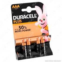 Duracell Plus Alcaline Ministilo AAA - Blister 4 Batterie
