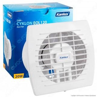Kanlux Cyklon EOL120B Aspiratore da Canale 20W IPX4 - mod. 70915