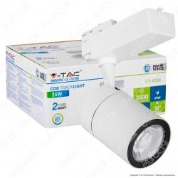 V-Tac VT-4536 Track Light LED COB 35W Colore Bianco - SKU 1255 / 1256 / 1257