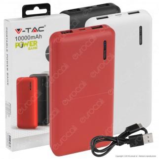 V-Tac VT-3518 Power Bank Portatile 10000 mAh 2 Uscite USB 2A - SKU 8897 / 8898 / 8899