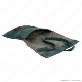 Il Morello Large Portatabacco in Vera Pelle Verde Militare e Verde Scuro