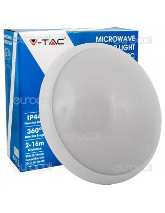 V-Tac VT-8002 C Plafoniera Portalampada Adattatore con Sensore di Movimento Microonde per Lampadine E27 - SKU 4966