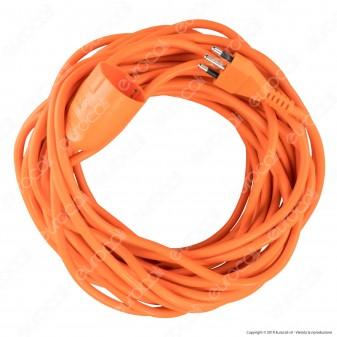 V-Tac Cavo Prolunga Spina 16A e Presa 10/16A Schuko 15 metri Colore Arancione - SKU 8834