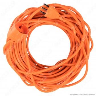 V-Tac Cavo Prolunga Spina 16A e Presa 10/16A Schuko 30 metri Colore Arancione - SKU 8833