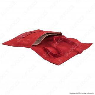 Il Morello Large Portatabacco in Vera Pelle Riciclata Colore Rosso