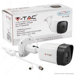 V-Tac VT-5126 Telecamera di Sorveglianza AHD 4 in 1 Analog Camera 1080p IP65 - SKU 8475