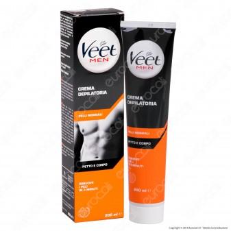 Veet For Men Crema Depilatoria per Pelli Normali - Tubetto da 200ml