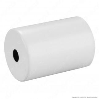 FAI Bicchiere Portalampada Cilindrico in Metallo per Lampadine E27 Colore Bianco Opaco