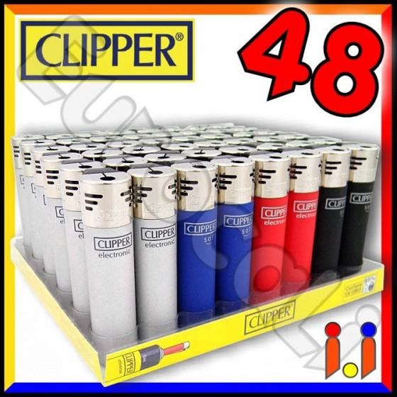 Clipper Large Elettronico Fantasia Elegant - Box da 48 Accendini