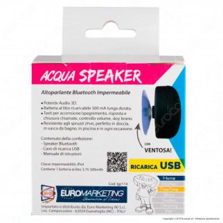 Kit 2 AcquaSpeaker Intergross Cassa Altoparlante Bluetooth Impermeabile IPX4