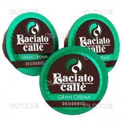 100 Capsule Baciato Caffè Desiderio Avvolgente Gran Crema Cialde Compatibili Lavazza A Modo Mio
