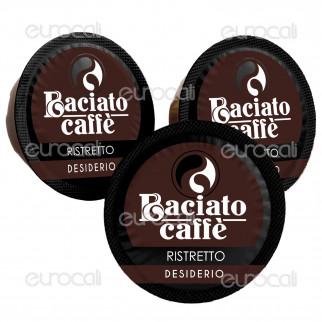 100 Capsule Baciato Caffè Desiderio Essenziale Ristretto Cialde Compatibili Lavazza A Modo Mio