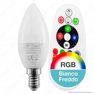 V-Tac VT-2214 Lampadina LED E14 3,5W Candela RGB+W