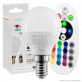 V-Tac VT-2234 Lampadina LED E14 3,5W MiniGlobo P45 RGB+W