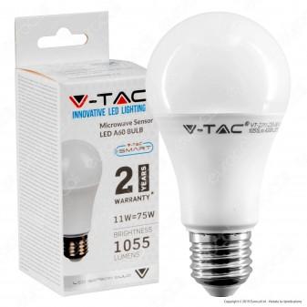 V-Tac VT-2211 Lampadina LED E27 11W Bulb A60 con Sensore di Movimento