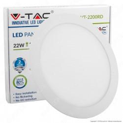 V-Tac VT-2200 RD Pannello LED Rotondo 22W SMD5630