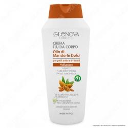 Glenova Cosmetics Crema Fluida Corpo Vellutante con Olio di Mandorle Dolci - Flacone da 300ml