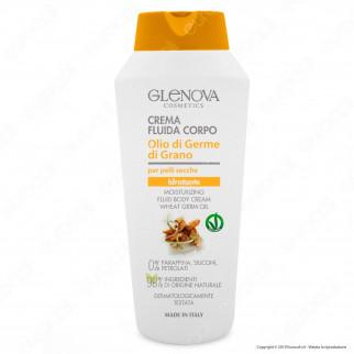 Glenova Cosmetics Crema Fluida Corpo Idratante con Olio di Germe di Grano