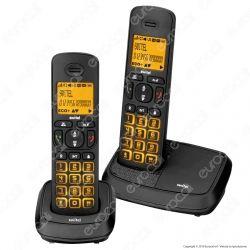 Switel Wizard DC 5902 DUO Set di 2 Telefoni Cordless per Portatori di Apparecchi Acustici
