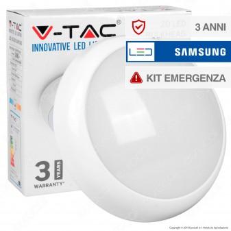 V-Tac VT-17 Plafoniera LED 17W Forma Circolare con Kit Emergenza - SKU 806